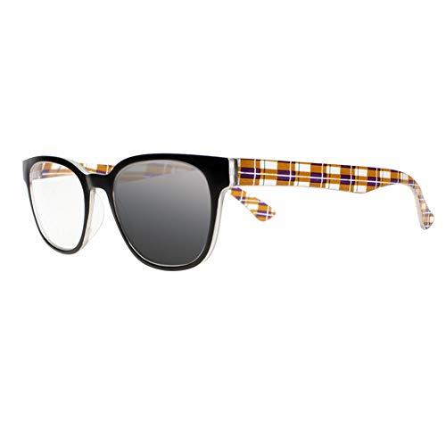 Women Transition Photochromic Bifocal Square Nerd Reading Glasses UV400 Sunglasses (Brown, 2.50)