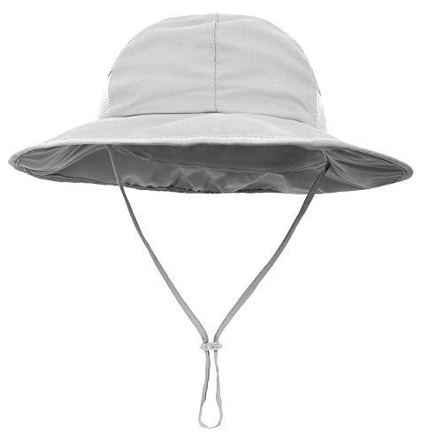 8dcec5b21a56 SimpliKids Baby Boy Sun Hat UPF 50+ Sun Protection Wide Brim Beach Hat Grey