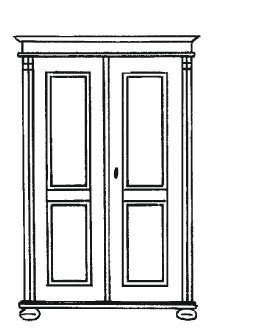 Gradel Alina Dielenschrank mit 1 Einlegeboden und 1 Kleiderstange (zerlegbar) in Fichte massiv - Natur gewachst