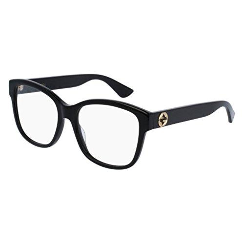 Gucci - GG0038O Optical Frame ACETATE (Black, - Womens Eyewear Gucci