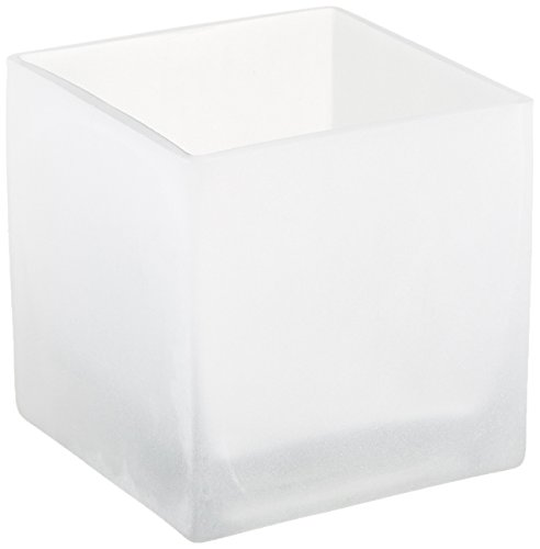 WGV Square Cube Glass Vase/Votive Candle holder, 4-Inch, - Votive Cube