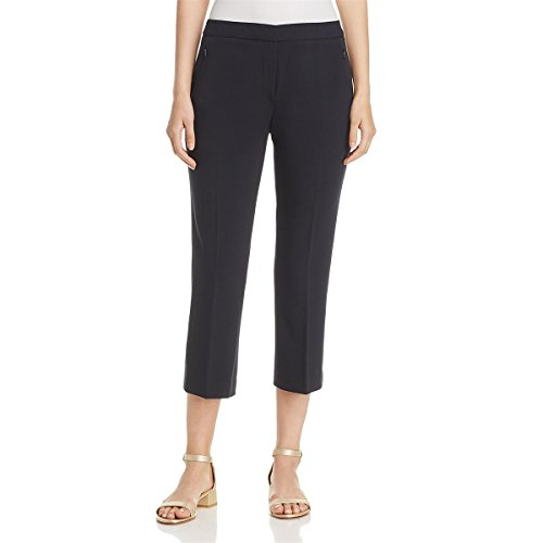 T Tahari Womens Harper Work Wear Skinny Dress Pants Navy 8