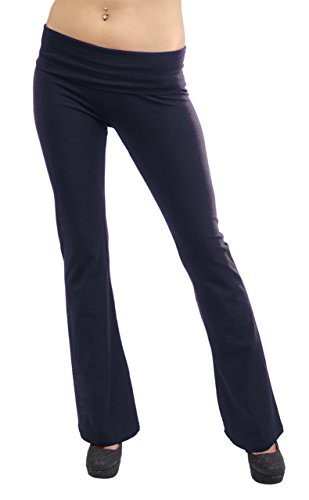 Vivian's Fashions Yoga Pants - Full Length, Junior Size (Navy, 2X)