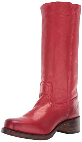 FRYE Women's Campus 14L Knee High Boot Burnt Red Polished Soft Full Grain 11 M US