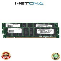 4121 1GB (2x512MB) IBM Compatible Memory 512MB PC66 200-pin ECC SDRAM DIMM Kit - Not in Stock 100% Compatible memory by NETCNA USA (Pc66 Sdram Ecc Memory)