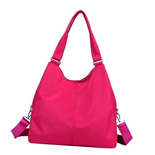 Body Capacity Women Shoulder Hobo Cross Fityle Bag Red Large Rose Nylon Handbag Fashion Waterproof Lady aRnUZHqg