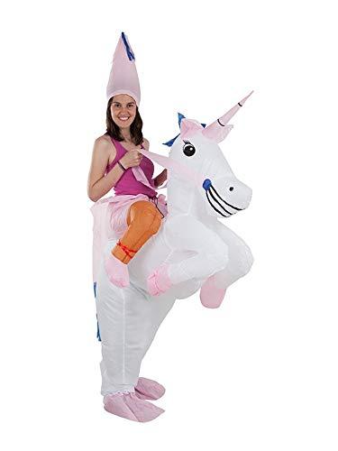 DISBACANAL Disfraz Unicornio Hinchable Adulto: Amazon.es ...
