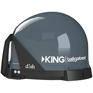 KING Tailgater Portable HD Satellite TV AntennaRemanufactured - Full 2-Year Warranty