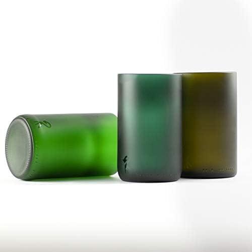Roca Recicla - Juego de 3 Vasos de Vidrio Reciclado de El Celler ...