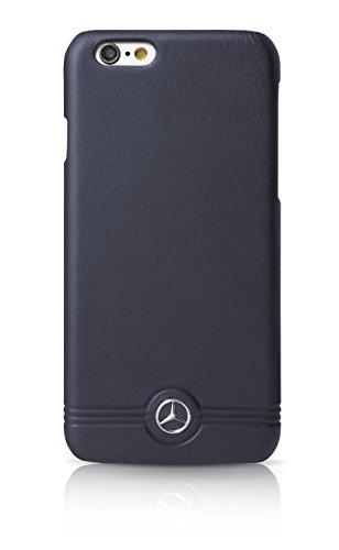 Mercedes-Benz MEHCP6EMSNA geprägte Linien Leder-Hülle für Apple iPhone 6/6S 12 cm (4,7 Zoll) marineblau