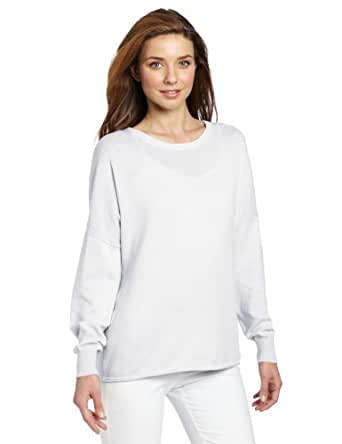 Minnie Rose Women's Oversized Pullover Sweater, White,X-Small
