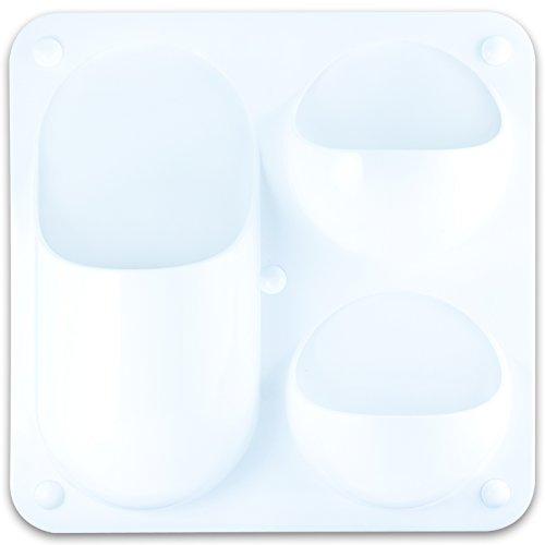 EXERZ EX883 Contenedor modular multi-funcion/ Organizador de oficina- Tamano: 21x21 CM- Puede colgarse atornillandolo a la pared/ pegandolo a la pared/ colgandolo a un soporte/ usando imanes -Blanco