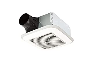 Broan 110 CFM 1.5 Sones InVent Series Single Speed Fan with Soft Surround LED Lighting