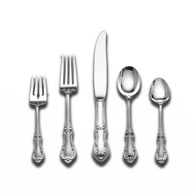 [Joan of Arc 5 Piece Lunch Flatware Set with Dessert Spoon] (Sterling Dessert)