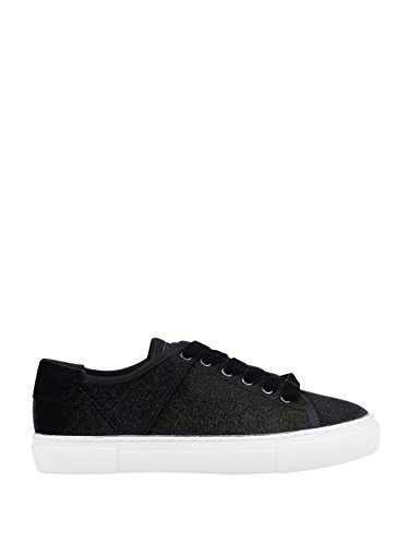 GUESS Womens Good One Low-Top Sneakers Black Fabric qO1nFB