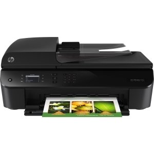 HP Officejet 4630 Inkjet Multifunction Printer - Color - Plain Paper Print - Desktop - Copier/Fax/Printer/Scanner - 21 ppm Mono/17 ppm Color Print - 8.8 ppm Mono/5.2 ppm Color Print (ISO) - 1200 x 4800 dpi Print LCD - 1200 dpi Optical Scan - Automatic Dup