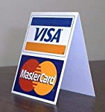 Visa and Mastercard Tabletop Signs- 2 pack