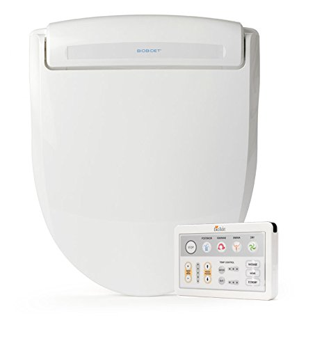 Bio Bidet Supreme BB-1000 Round White Bidet Toilet Seat Adjustable Warm Water, Self Cleaning, Wireless Remote Control, Posterior and Feminine Wash, Electric Bidet, Easy DIY Installation 3 in 1 Nozzle, Power Save Mode is Eco Friendly