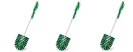 Libman Commercial 22 Round Bowl Brush, Polypropylene, 14' Total Length, Green and White (Pack of 6) 14 Total Length