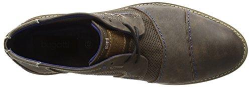 Bugatti U35135 - botas desert de cuero hombre marrón - Braun (dunkelbraun 610)