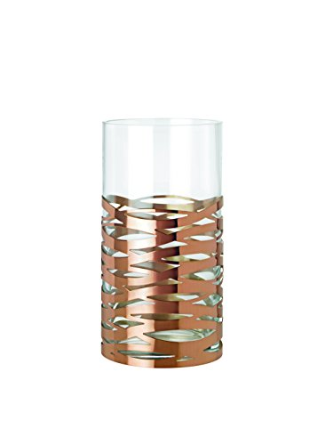 Magnum Vase (Stelton Tangle Vase Magnum, Table Vase, Floor Vase, Glass, Stainless Steel, H 35.5 cm, X-56-2)