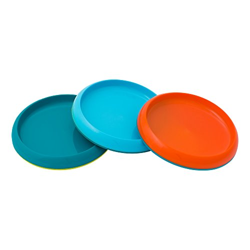 Boon Plate Edgeless Nonskid Plate, Blue/Orange/Green (Non Skid Plates)