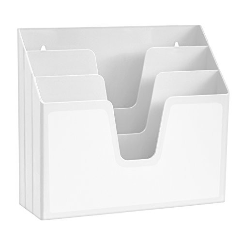 Acrimet Horizontal Triple File Folder Organizer (White Color)