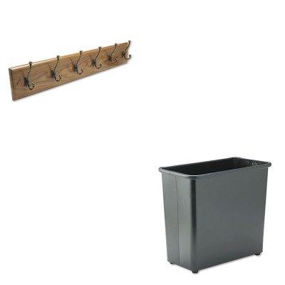 KITSAF4217MOSAF9616BL - Value Kit - Safco Wall Rack (SAF4217MO) and Safco Fire-Safe Wastebasket (SAF9616BL)