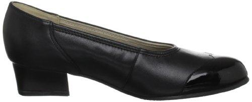 Padders Felicity, Damen Pumps Schwarz (Black Croc)