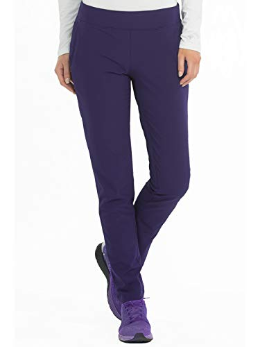 (Med Couture Women's 4-Ever Flex Stretch Yoga Slim Fit Scrub Pant Plum)