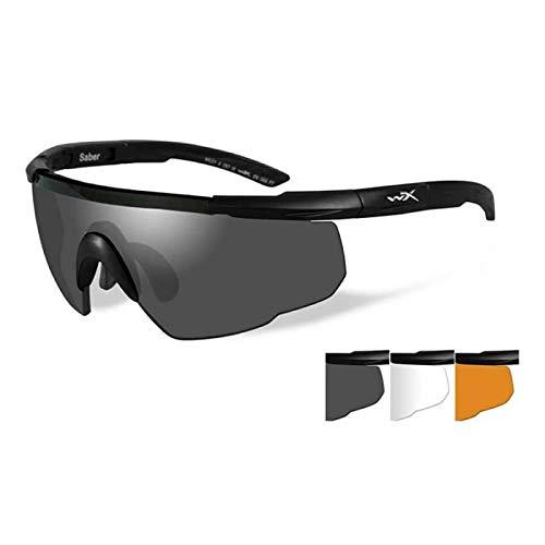 Wiley X Saber Advanced Smoke Gray Clear Light Rust Lens Matte Black - Series Casual Eyewear