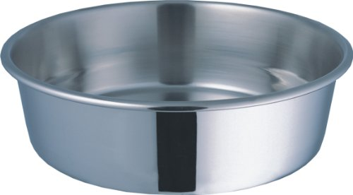 amazoncom indipets stainless steel extra heavy duty pet bowl 4quart large stainless steel bowl pet supplies