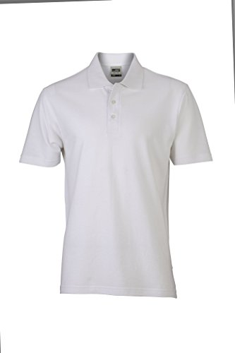Piqué Polo | JN748, Größe:M;Farbe:white