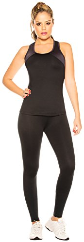 SL Women's Gym Outfit Workout Running Tank Top Fitted Leggings S 61507-506BL