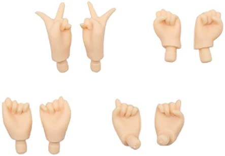 4 Pairs Movable Hands for Blythe Takara Doll Custom Body Parts Accessory Tan