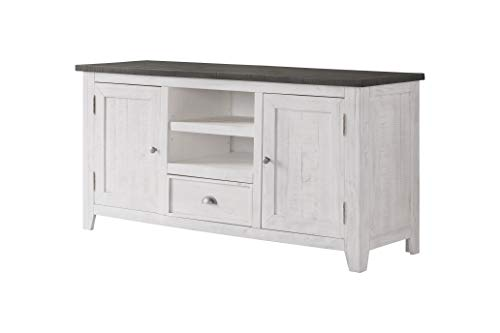 Martin Svensson Home 909805 Monterey TV Stand, White with Grey Top