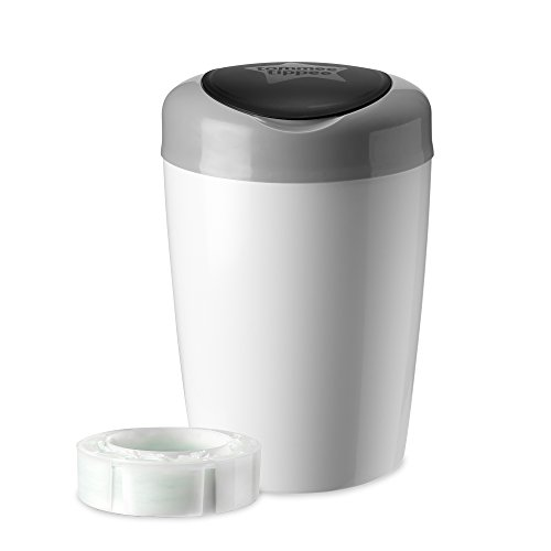 tommee-tippee-simplee-diaper-pail-with-1-refill-grey