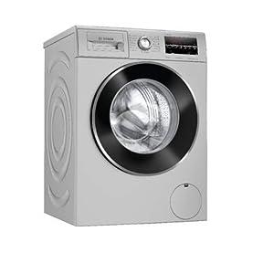 Bosch 7.5 kg Fully Automatic Front Loading Washing Machine (WAJ2846IIN, Silver, Inbuilt Heater)