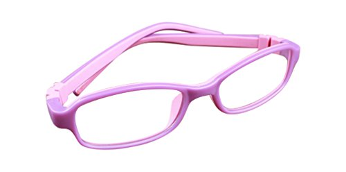 Deding Kids Optical Eyeglasses No Screw Bendable with Stringa and Case ,Children Tr90&silicone Safe Flexible Glasses Frame (Purple - Optical Eyeglasses