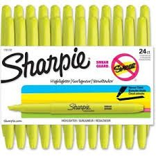 Sharpie - Accent Slim Style Highlighters, 24 Fluorescent Yellow Highlighters