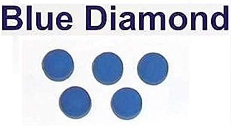 5 x 10 mm cuero diamante azul billar punta billar consejos: Amazon.es: Deportes y aire libre