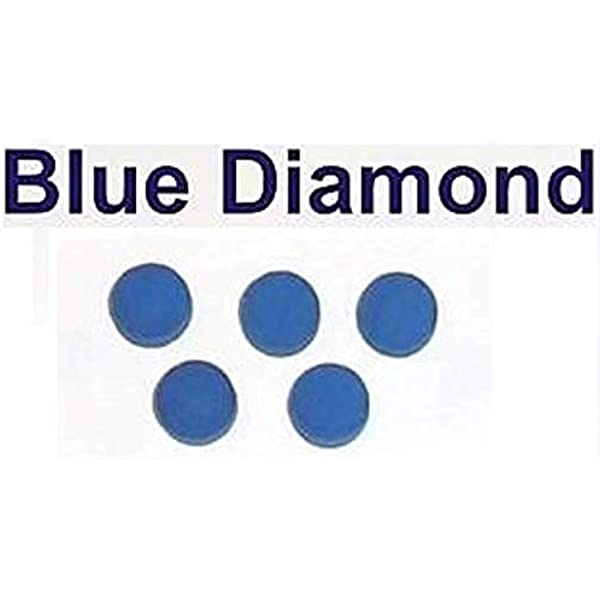 5 x 10 mm cuero diamante azul billar punta billar consejos: Amazon ...