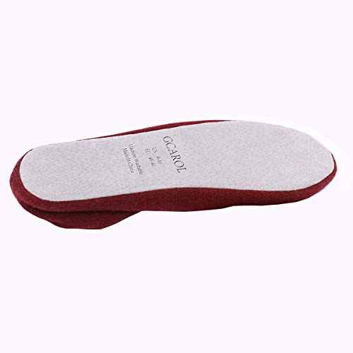 Women's Cotton Bow Slippers Ballerina with GCAROL Red 7Tdw0zq