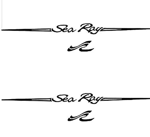 CELYCASY Pair of 6''x28'' Sea Ray Boat Hull Vinyl Decals. Marine Grade and Your Choice of Color. by CELYCASY
