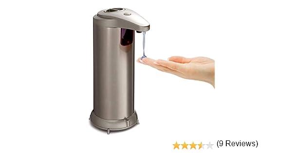 Dispensador de jabón automático de acero inoxidable dobles botones dispensador de jabón Sensor de movimiento de infrarrojos Touchless dispensador de ...