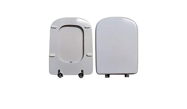 Asiento de inodoro DANUBIO VINCENTI compatible lacado blanco brillante poli/éster