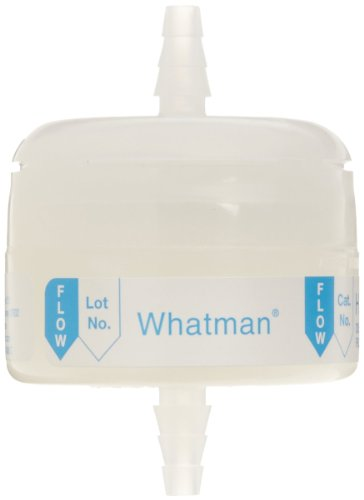 Whatman 6702-3600 Hepa-Cap 36 In-Line Venting Filter, 60 psi Maximum Pressure, Inlet 1/4