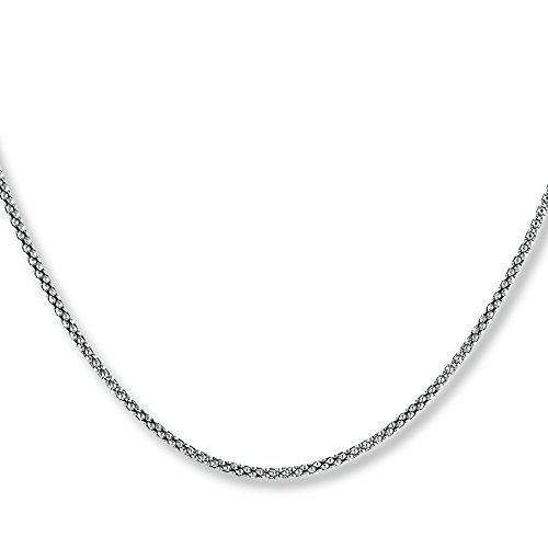 1mm thick solid sterling silver 925 Italian COREANA POPCORN chain necklace chocker bracelet anklet with spring ring clasp - 15, 20, 25, 30, 35, 40, 45, 50, 55, 60, 65, 70, 75, 80, 85, 90, 95, 100cm