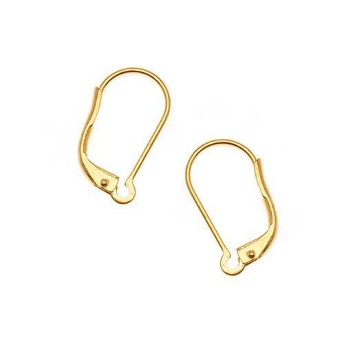 Beadaholique Earring Findings Lever Backs, 22K Gold Plated, Pair of 5