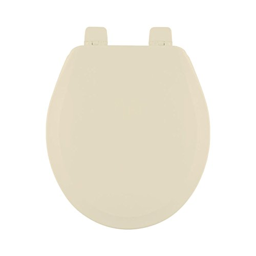 Centoco 700-106-A Wood Round Toilet Seat with Closed Front, Bone by Centoco (Image #1)